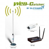 Silentwind Web-Catcher Wi-Fi Antenna sett 10 dBi 12V, med 20M LAN cable
