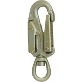 ISC steel double action snaphook med svivel