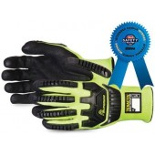 Superior Glove TenActiv™ Hi-Viz Gloves Cut-Resistant with Black Widow Micropore Grip
