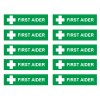 Tilbehør: MH83 – First Aider stickers – (10 pack)