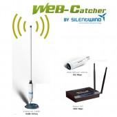 Silentwind Web-Catcher Wi-Fi Antenna sett 12,5 dBi 12V, med 10M LAN cable
