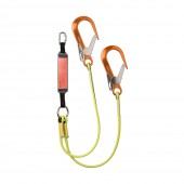 Heightec ELITE twin lanyard – oval, scaff hook