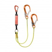 Heightec ELITE twin lanyard – tri-act, scaff hook