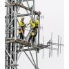 Trivsel på jobb med sikkerhet i høyden - Høyde AS. Antenna maintenance work on the Monte San Salvatore tower in Lugano, Switzerland. © Petzl